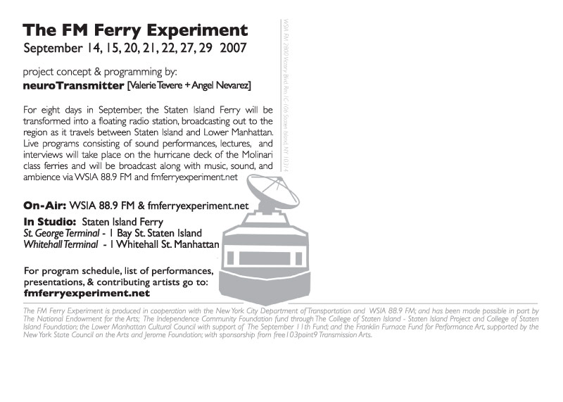 The FM Ferry Experiment Postcard