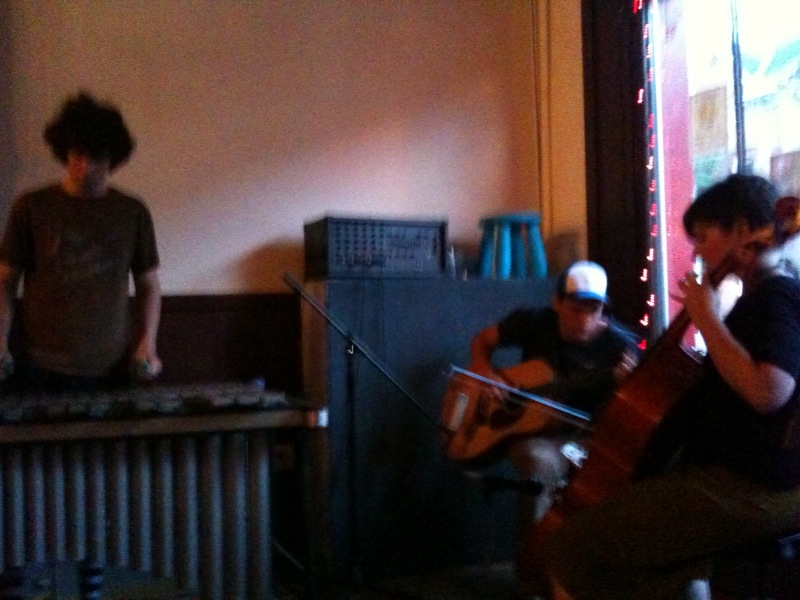 Alexander Turnquist and band at Spotty Dog bookstore in Hudson 072609