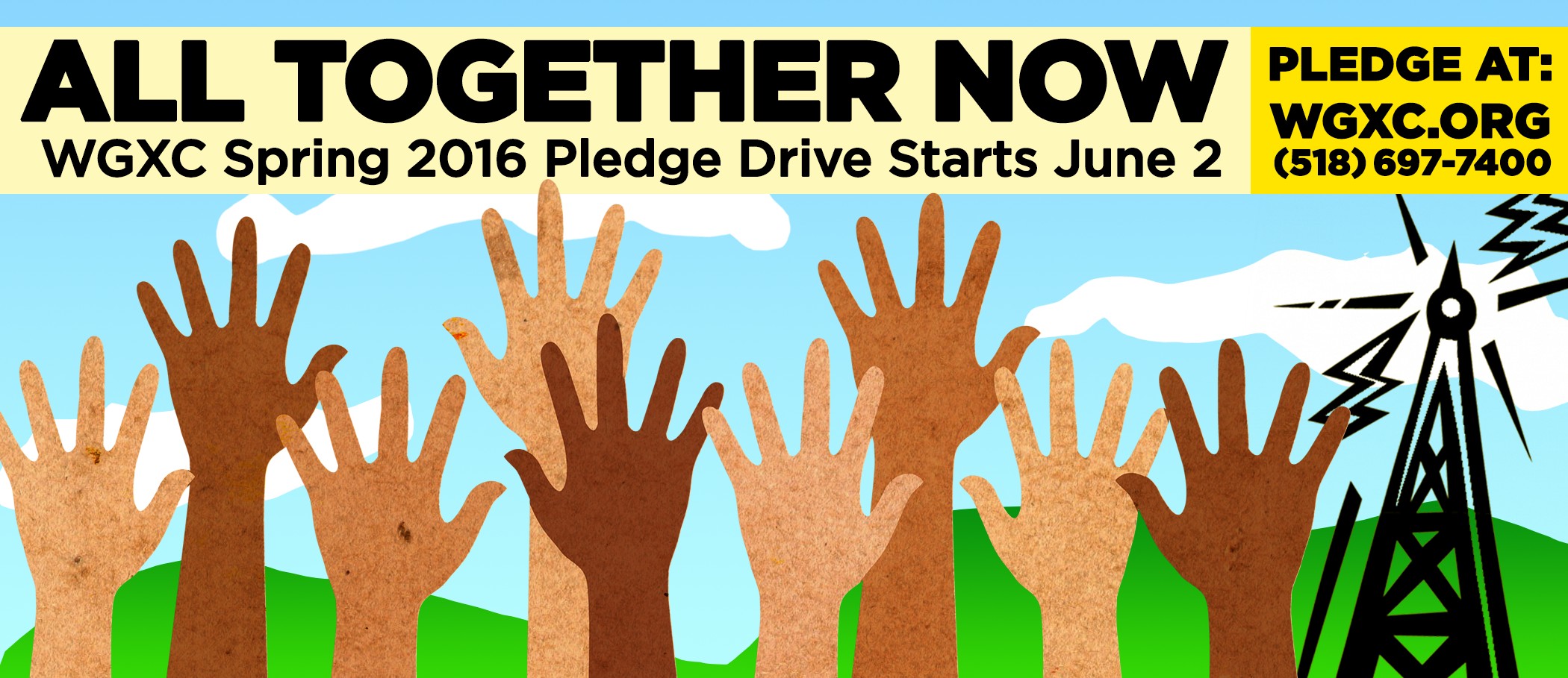 WGXC All Together Now! Spring Pledge Drive Banner Image