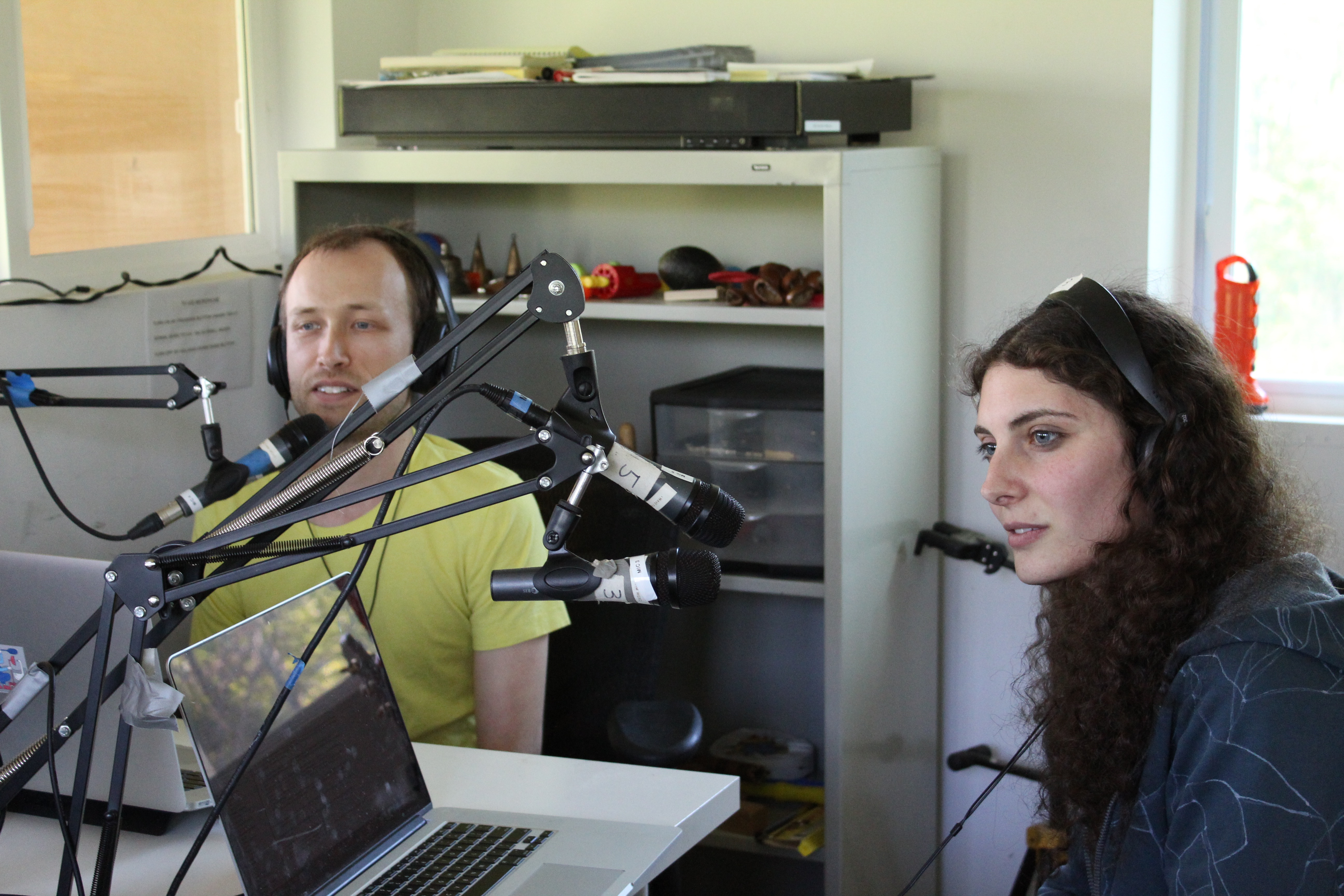 Jen Kutler and Zach Poff on the Saturday Afternoon Show.