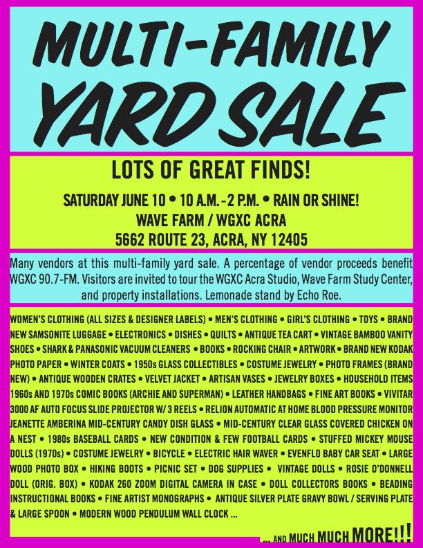 WGXC Yard Sale Image