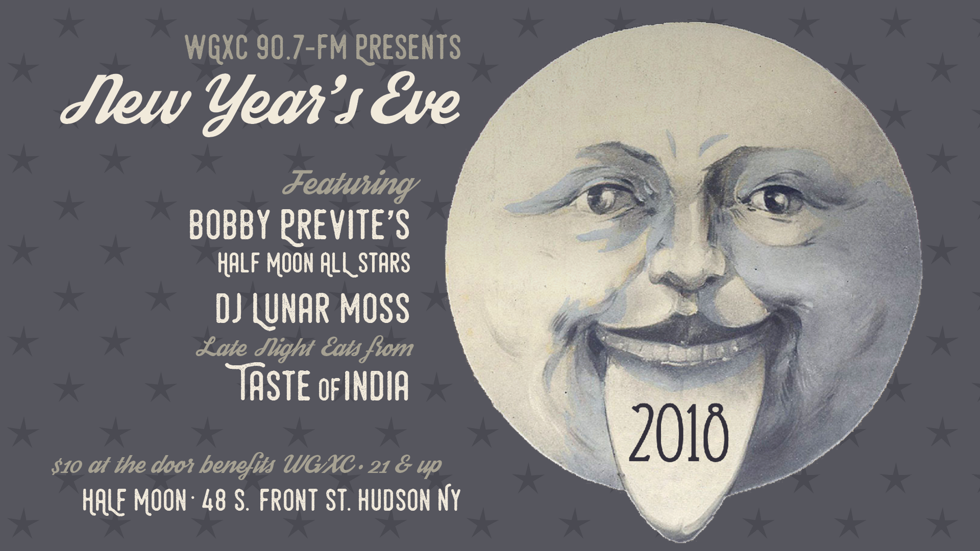 wgxc invites all to ring in the new year at half moon hudson this is the fifth year of the annual fundraising bash and features bobby previte and friends