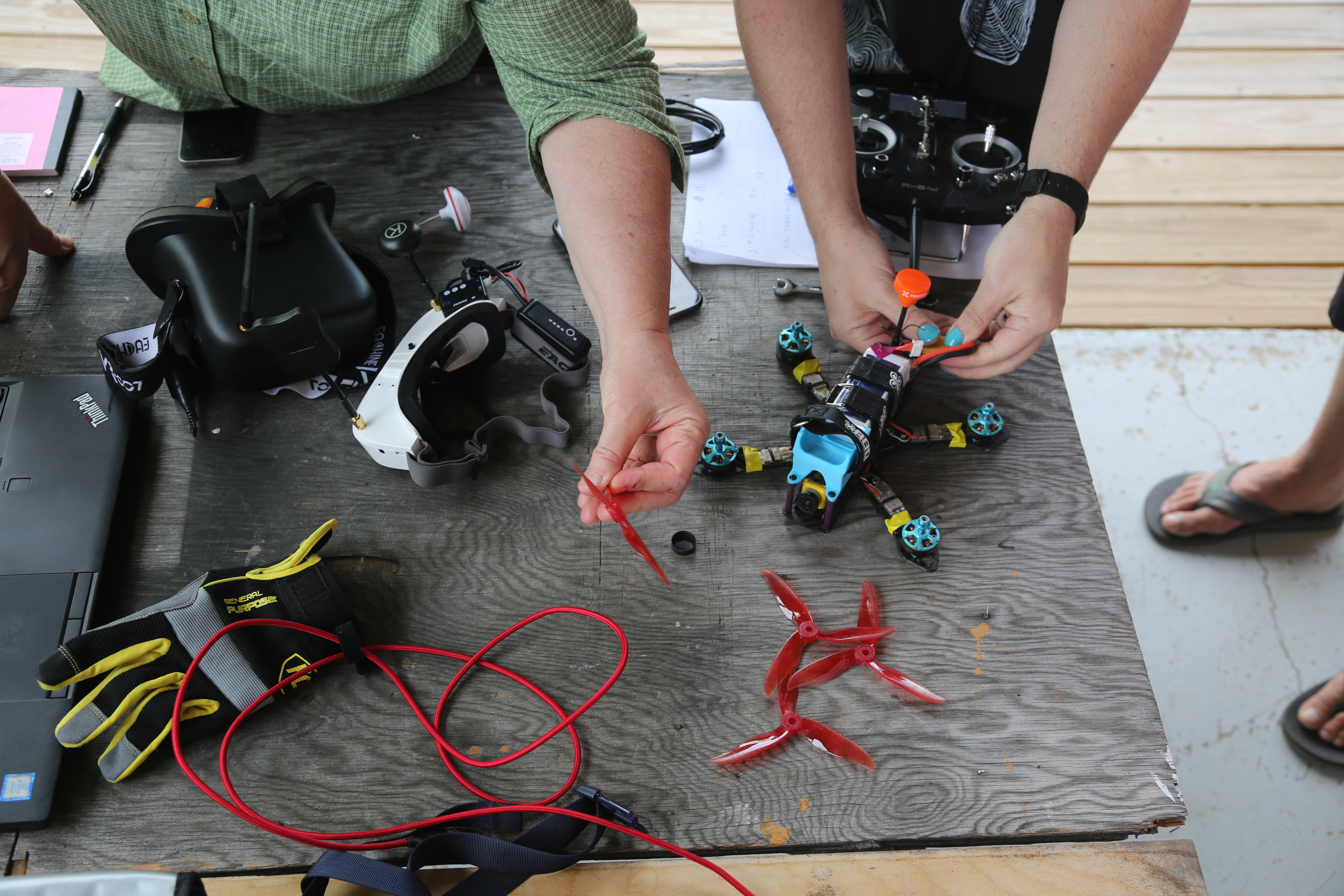 Propeller Upgrade Demo at the Aerial Actor Drone Workshop