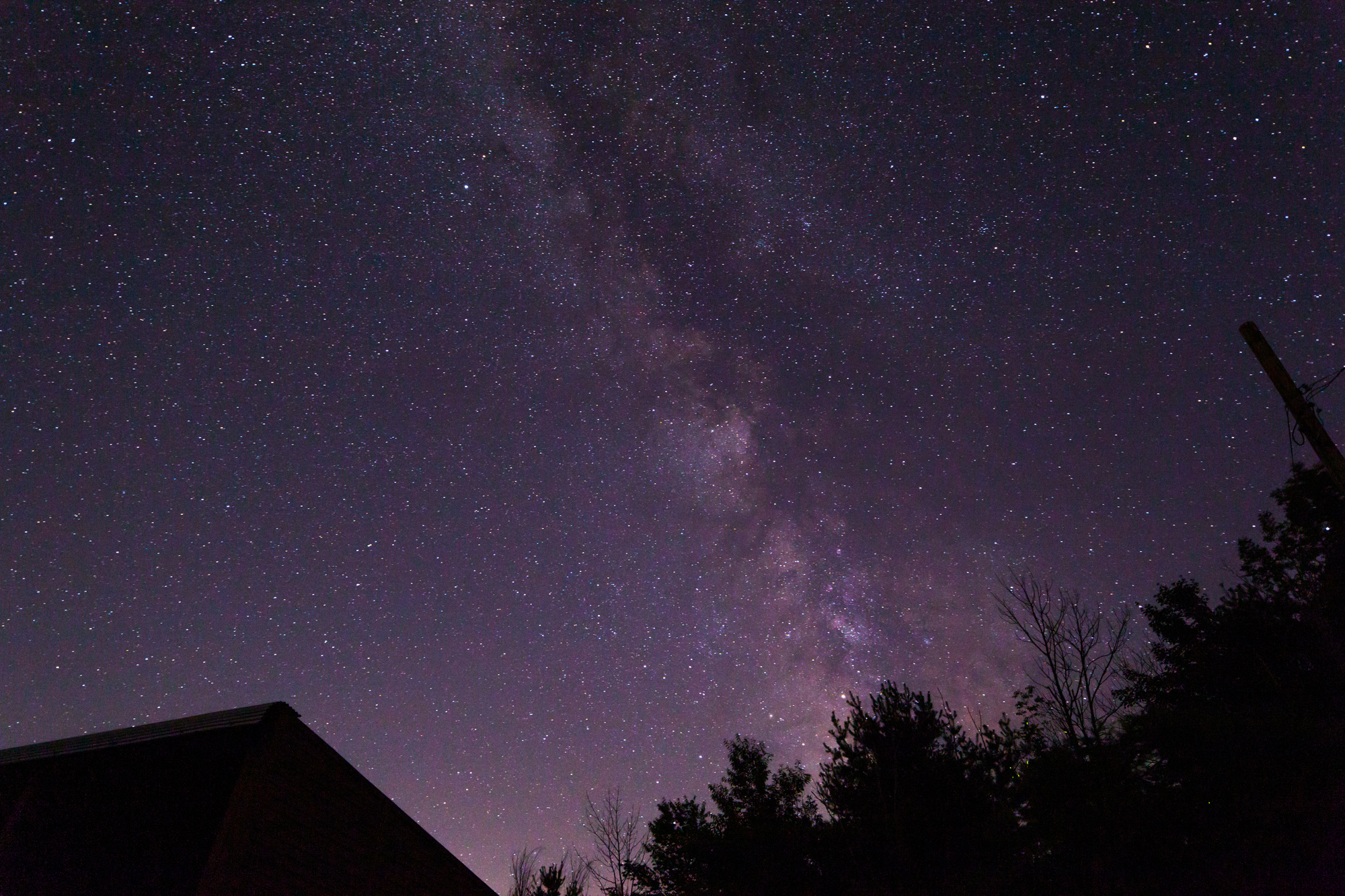 N. Adriana Knouf's Telescope Image of the Night Sky Above the Wave Farm Study Center