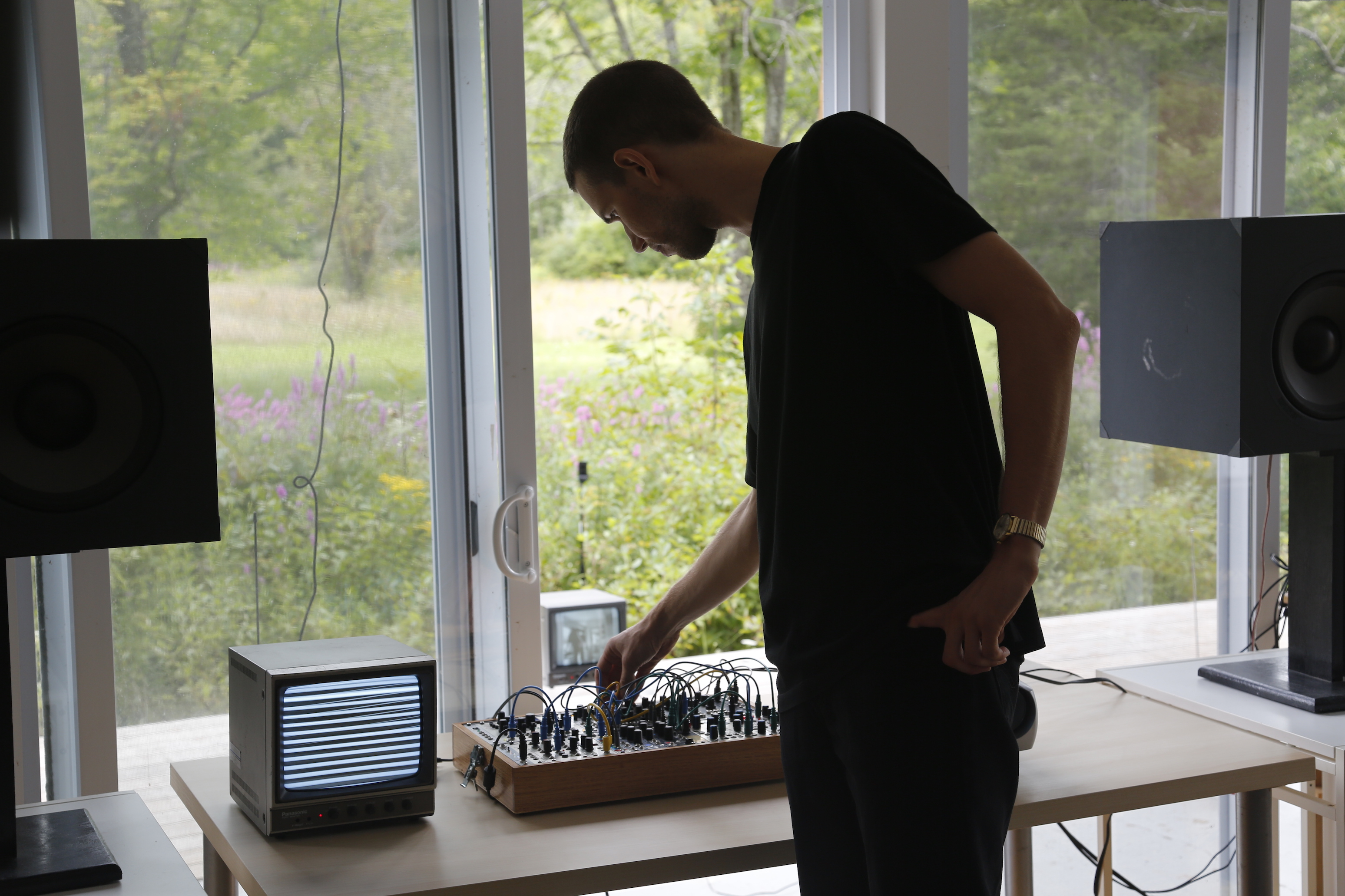 Angus Tarnawsky Composing Sound from the Surveillance Cameras on the Wave Farm Grounds: Image 2