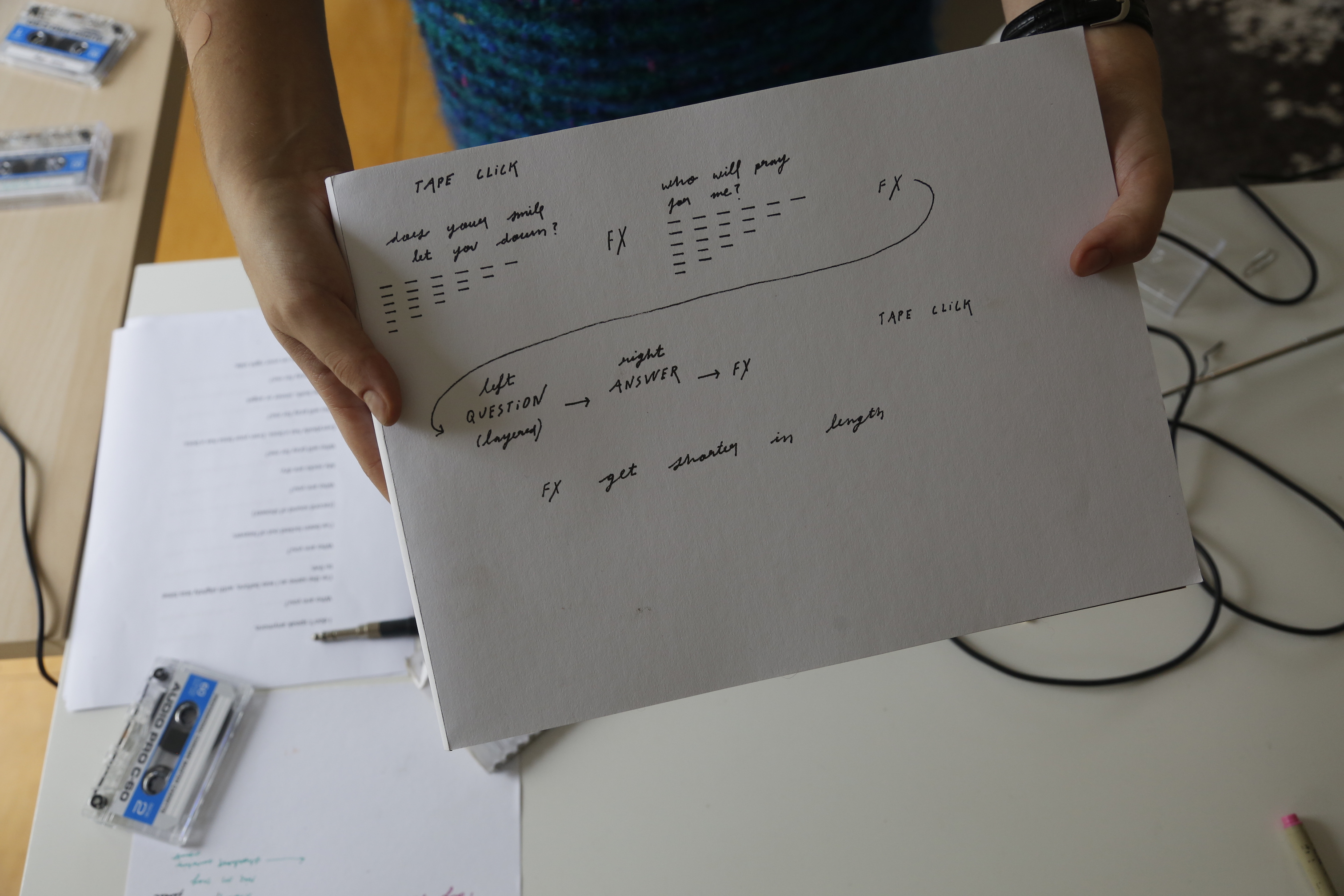 Detail of Residency Project Notebook