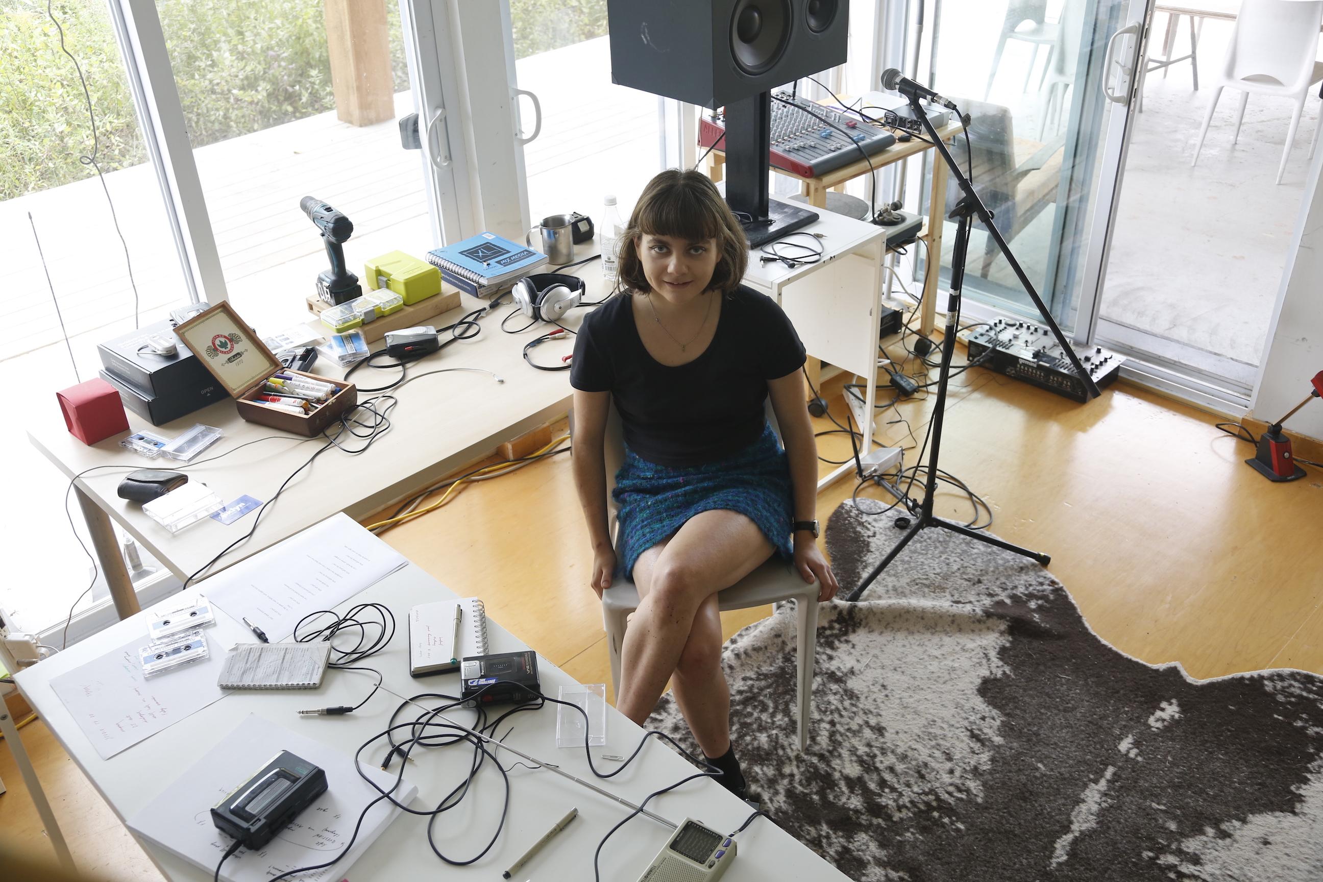 Portrait of Clara Lou At Her Indoor Work Station