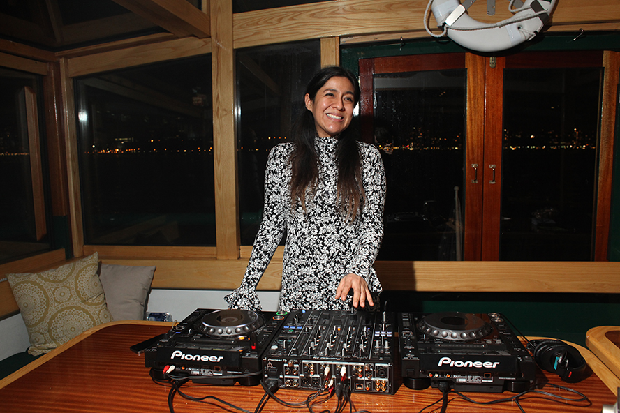 Maria Chavez during the Wave Farm Pirate Radio Reunion Cruise.