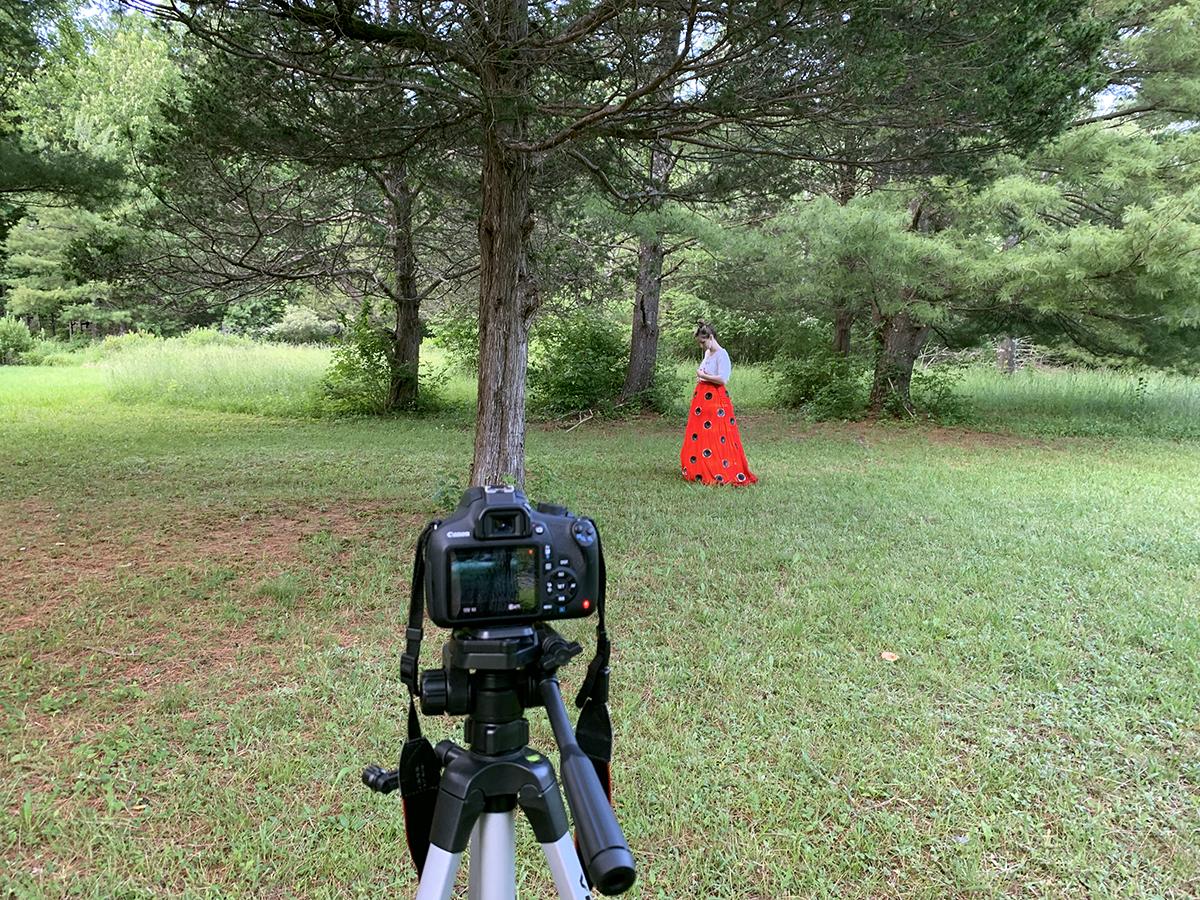 Outdoor Filming 1, Kathleen McDermott Wave Farm Artist-in-residence