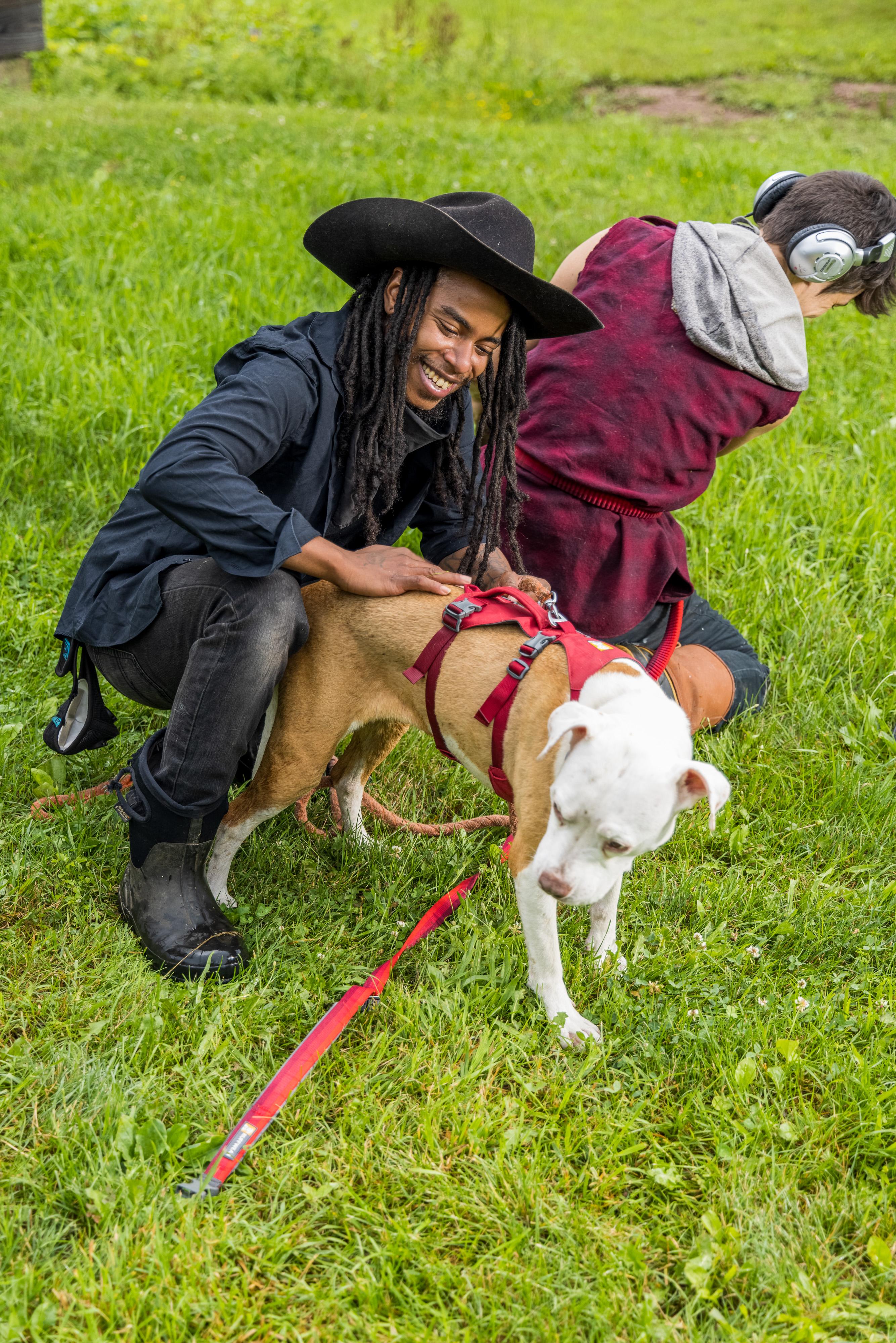 Khonsu X portrait with pup