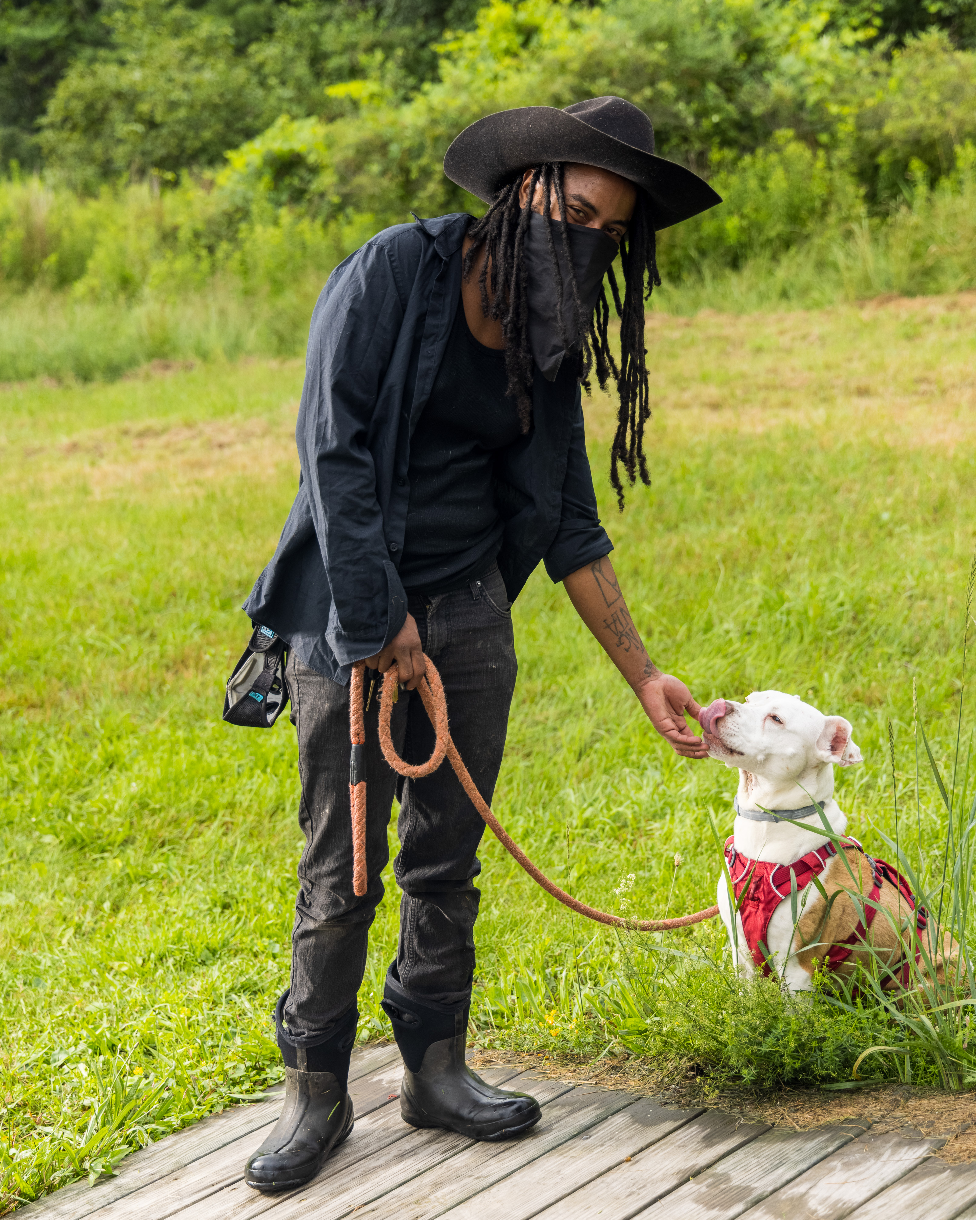 Portrait of Khonsu X with pup