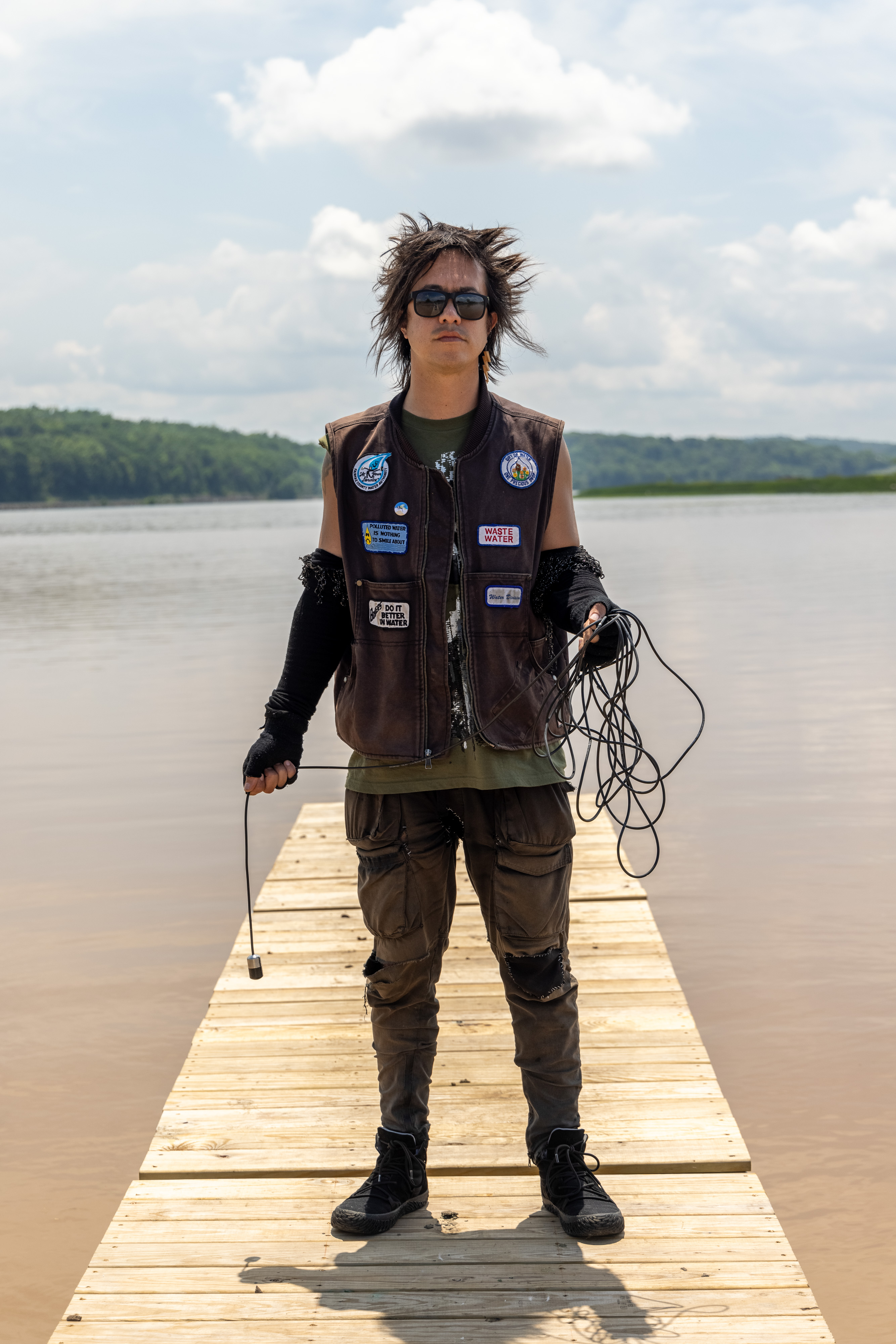 sTo Len Recording the Hudson River during his Wave Farm Residency (8)
