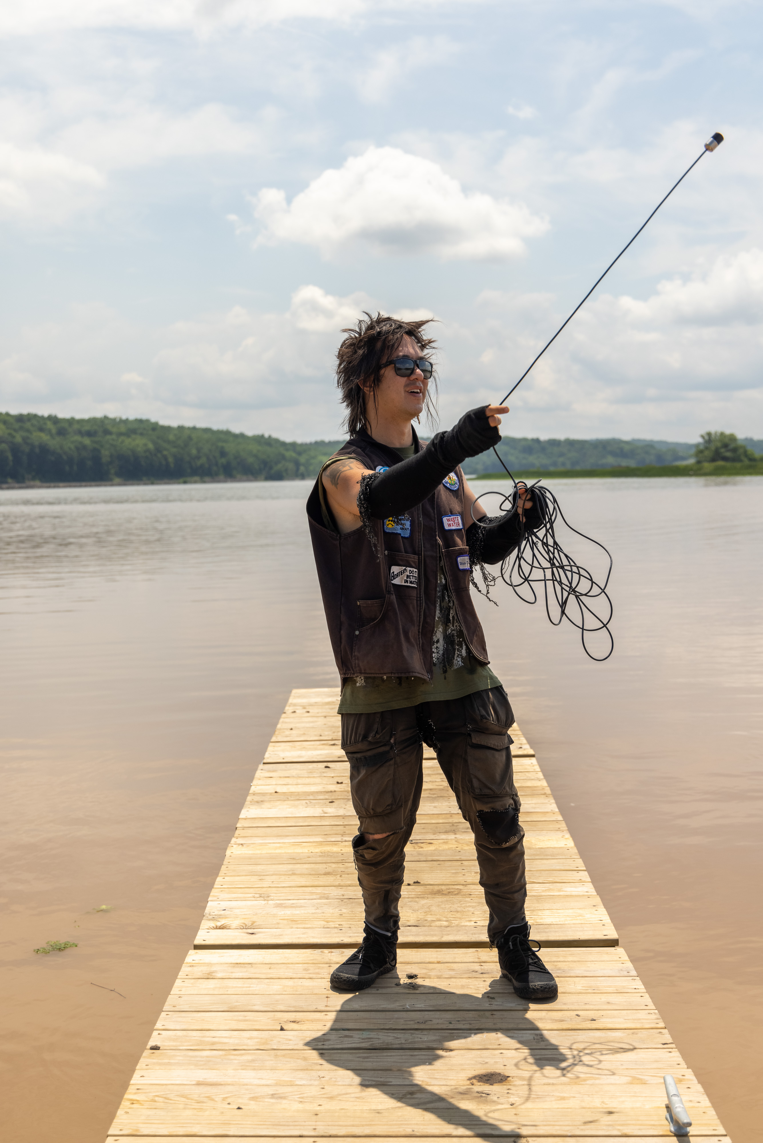 sTo Len Recording the Hudson River during his Wave Farm Residency (9)