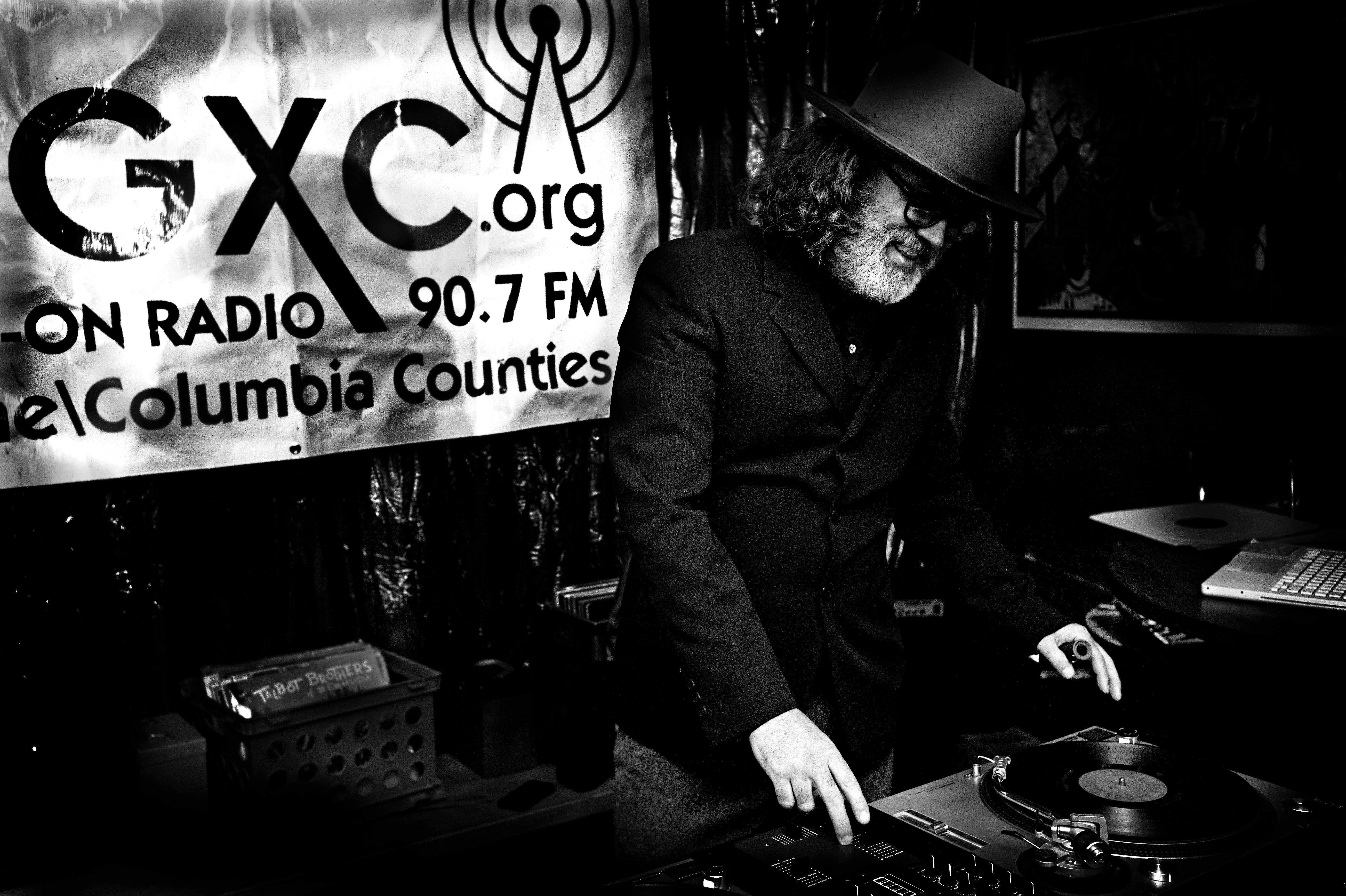 The Magic Stranger DJs at the Half Moon on WGXC New Year's Eve Party.