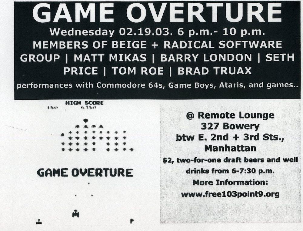 Game Overture flyer