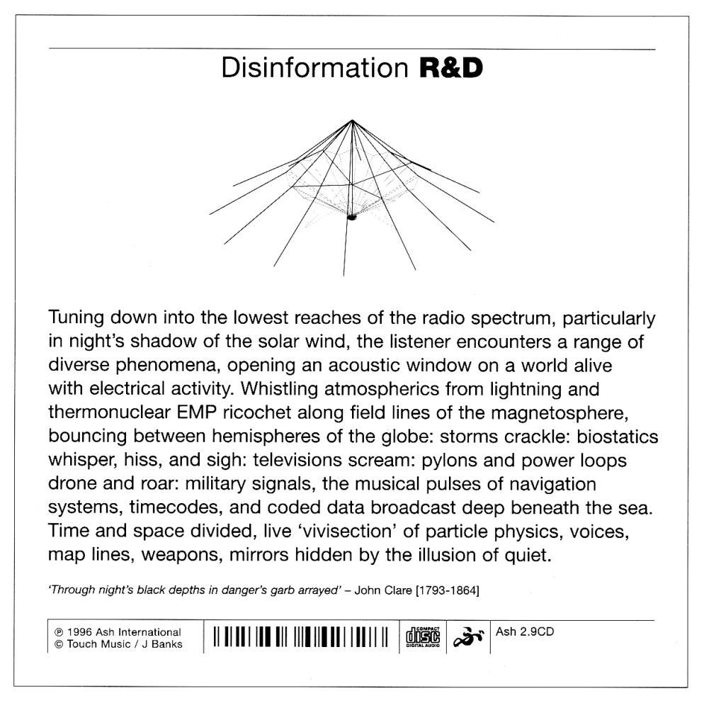 R&D sleeve note