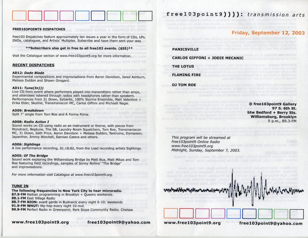 9/12/2003 flyer
