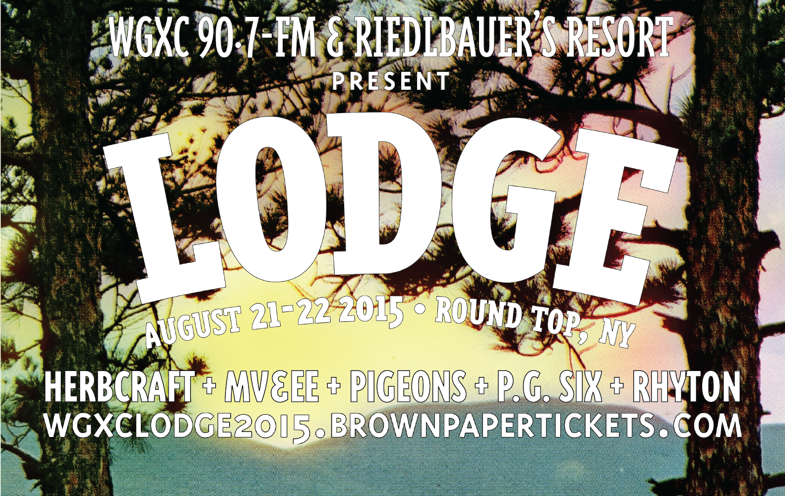 Announcing Lodge, August 21 & 22 2015 at Riedlbauer's Resort.