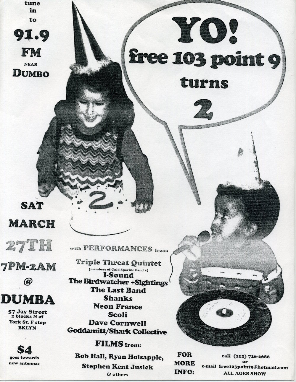 free103point9 Second Anniversary Party Poster